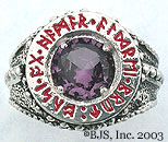 Amethyst Dwarven Ring of Power