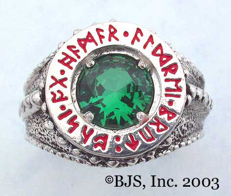 Emerald Dwarven Ring of Power