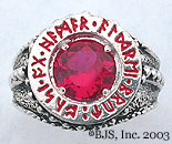 Ruby Dwarven Ring of Power