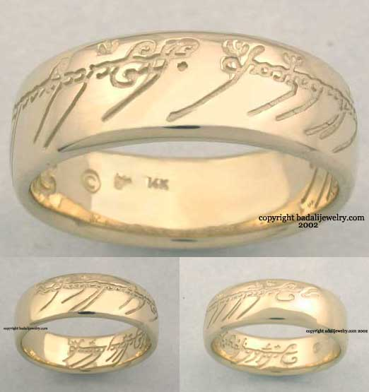 premium lotr one ring of power - The One Ring Wedding Band