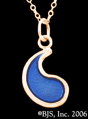 Wheel of Time Blue Ajah Flame of Tar Valon Necklace