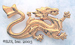 Wheel of Time Asha'man Dragon Pin - 14k Gold